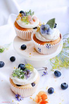 diy cristallized flowers / Cupcakes de Vainilla – Receta Base