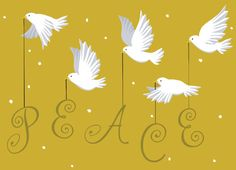 great arrow graphics | Flying Doves Peace - Great Arrow Graphics - Religious Christmas Card