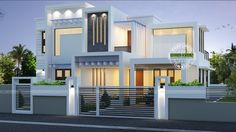 2224 Square Feet Square Meter) Square Yards) contemporary style house in majestic look. Design provided by Kerala Home Design. Contemporary Style Homes, Contemporary House Plans, Modern House Plans, Indian Home Design, Kerala House Design, Architecture Design, Modern Architecture House, Amazing Architecture, Front Elevation Designs