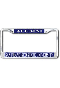 San Francisco State University Polished Chrome Alumni License Plate Frame | San Francisco State University
