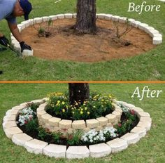 Large backyard landscaping ideas are quite many. However, for you to achieve the best landscaping for a large backyard you need to have a good design. Garden Yard Ideas, Easy Garden, Garden Beds, Garden Projects, Garden Ideas Using Bricks, Herbs Garden, Landscaping Around House, Large Backyard Landscaping, Landscaping Ideas