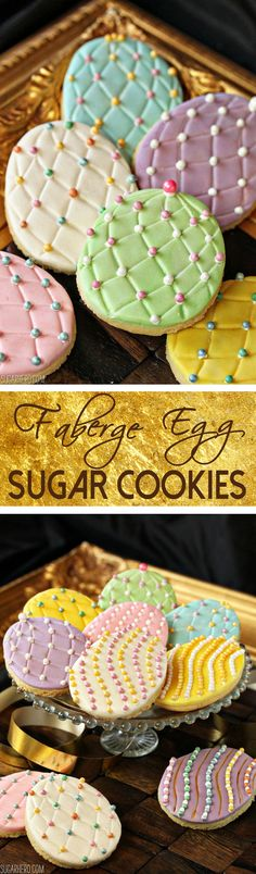 Faberge Egg Sugar Cookies - add some bling to your Easter basket with these gorgeous sugar cookies