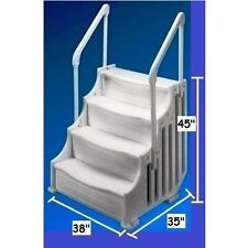 mighty steppool steps 38 entry system pool for above ground pool