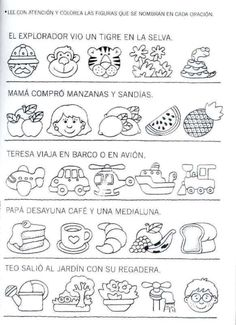 Literacy Resources in Spanish Classroom Activities, Learning Activities, Kids Learning, Teaching Resources, Preschool Education, Spanish Vocabulary, Spanish Language Learning, Teaching Spanish, Spanish Teacher