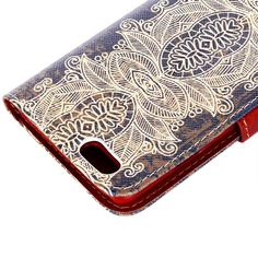 Amazon.com: iPhone 6 Plus Case, OMIU(TM) [Deep Blue Skin Flowers Pattern] Retro Style Premium PU Leather Flip Magnet Wallet Stand Shell Case Cover Protector Fit For Apple iPhone 6 Plus(5.5), Sent Screen Protector+Stylus+Cleaning Cloth: Cell Phones & Accessories