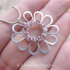 Wire Jewelry Tutorial JEWELLED FLOWERS 4 variations Step