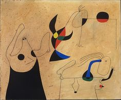 Constellation: Women on the Beach  Artist:Joan Miró (Spanish, Barcelona 1893–1983 Palma de Mallorca) Date:1940 Medium:Gouache and oil wash on paper Dimensions:H. 15 x W. 18 in. (38.1 x 45.7 cm) Classification:Drawings