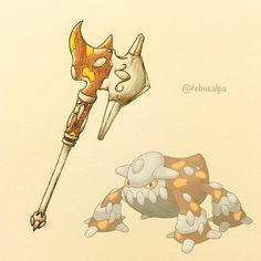 Pokeapon No. 485 - Heatran. #pokemon #heatran #hammer #pokeapon