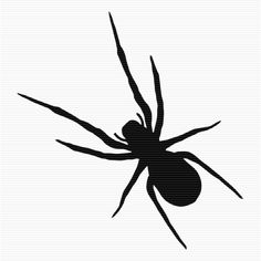 Black And White Spider Clip Art