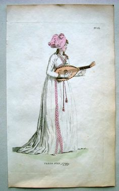 Lady with #mandolin - 1799 by Phillips ~ETS #illustration