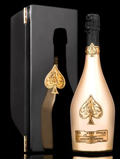 Armand de Brignac Champagne by Adam Hlavacek (Prague, Czech Republic) Chateau Margaux Wine, Expensive Champagne, Bling Bottles, Armand De Brignac, Beer Images, Alcohol Aesthetic, Spirit Drink, Wine House, Alcohol Bottles