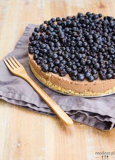Tofu cheesecake with blueberries Vegan Tofu Cheesecake, Vegan Cake, Blueberry, Pie, Sweets, Chocolate, Baking, Fruit, Dates