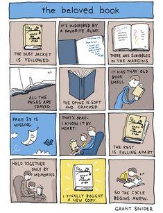 Incidental Comics: The beloved book I Love Books, Good Books, Books To Read, Life Comics, Beloved Book, Book Memes, Cool Cartoons, Book Nerd, Book Lists