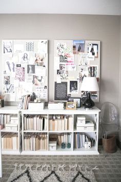series-of-linen-pinboards-for-office-space-via-victoriamstudio