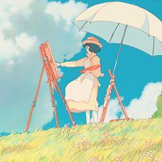 The Wind Rises by Hayao Miyazaki Studio Ghibli Art, Studio Ghibli Movies, Hayao Miyazaki, Le Vent Se Leve, Wind Rises, Anime Gifs, Estilo Anime, Animation, Anime Scenery