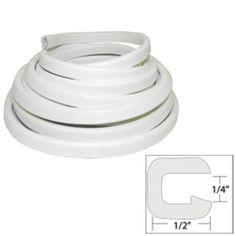 TACO Flexible Vinyl Trim - ¼ Opening x ½W x 25L - White