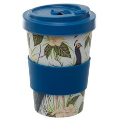 Eco Friendly Peacock Design Screw Top Travel Mug If you are looking for a range that is not only great for the planet but also looks super cool, th Eco Friendly Cups, Reusable Cup, Travel Cup, Cold Meals, Safe Food, Bamboo, Mugs, Kitchen Accessories, Peacock Design