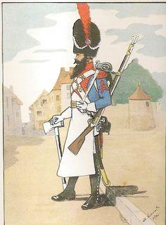 French; 3rd Line Infantry, Sapper, Grande Tenue, 1809-10