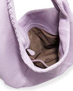 4bf0a26befb12 V27N1 Bottega Veneta Cervo Large Hobo Bag, Light Purple Trendy Handbags,  Light Purple,
