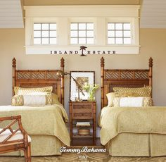 Island Estate. West Indies Twin Beds. Pair. Sold Individually