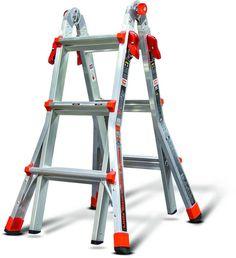Ladder Systems Little Giant Telescoping 13 Foot Aluminum Adjustable Folding Step #AluminumLadderSystems