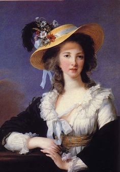 Yolande Martine Gabrielle Polastron, Duchess of Polignac Portrait with Straw Hat in 1782 Vigee Le Brun Louise-Elisabeth Versailles, castles of Versailles and Trianon Photo (C) RMN (Castle of Versailles) French History, Art History, Marie Antoinette, Woman Painting, Painting & Drawing, Versailles, Luís Xvi, Jean Antoine Watteau, The Duchess Of Devonshire