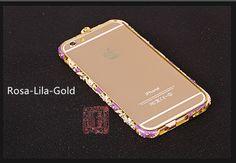 luxuriöse glänzende kristalle Rand Metall Handyhülle für IPhone6/6plus/7/7plus