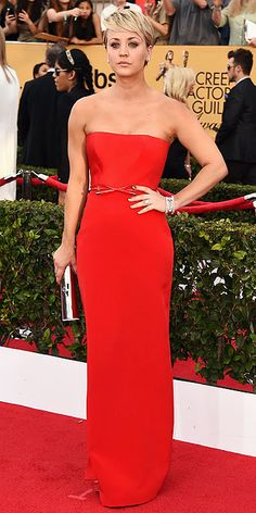 SAG Awards 2015: Arrivals : Kaley Cuoco