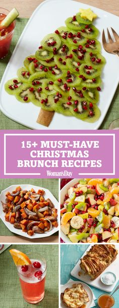 Kick-off Christmas with these delicious brunch ideas for the entire family! It'll really be home for the holidays when you create a delicious menu of items like the fruit christmas tree, red velvet pancakes and more!