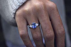 Ceylon Sapphire & Diamond Ring - Moira Patience Fine Jewellery - Moira Patience Fine Jewellery Bespoke Sapphire and Diamond Engagement Ring 1 - Saphire Ring, Blue Sapphire Rings, Sapphire Diamond, Sapphire Stone, Uncut Diamond, Classic Engagement Rings, Platinum Engagement Rings, Diamond Jewelry, Jewelry Rings