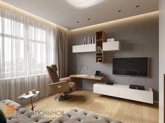 Фото: Кабинет - Интерьер дома в современном стиле, коттеджный поселок «Небо», 272 кв.м.