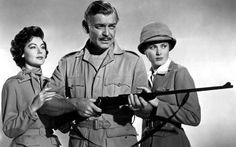 1953: Ava Gardner, Clark Gable and Grace Kelly in 'Mogambo'. This film won her a Golden Globe Award for Best Supporting Actress and an Academy Award nomination for Best Supporting Actress.