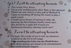 Want to avoid the monotony of wedding season? Check out these hilarious and clever ways couples made their wedding guests smile.