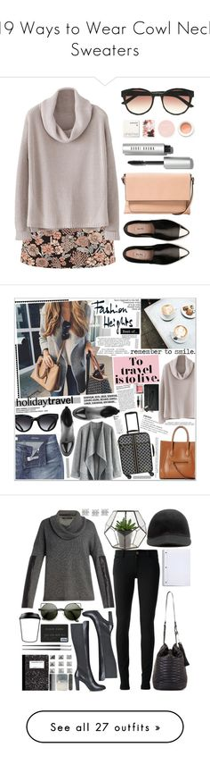 """""""19 Ways to Wear Cowl Neck Sweaters"""" by polyvore-editorial ❤ liked on Polyvore featuring cowlnecksweater, waystowear, Black Poppy, MANGO, Miu Miu, Bobbi Brown Cosmetics, Korres, Le Specs, Chicwish and Triwa"""