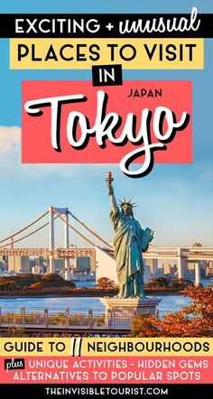 Looking for things to do in Tokyo? This Tokyo travel guide covers 11 neighbourhoods. Includes top Tokyo activities, historical sights, modern places to go and cultural experiences to make the most trip! Tokyo Travel Guide, China Travel Guide, Japan Travel Guide, Asia Travel, Travel Guides, Cool Places To Visit, Places To Go, Vietnam, Olympic Venues