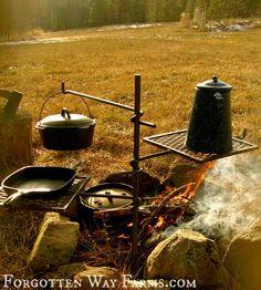 "Campfire Cooker ""Grandpa Jakes"" - Forgotten Way Farms.com"