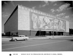 Outside look of (1962) venue with Johnny Cash...