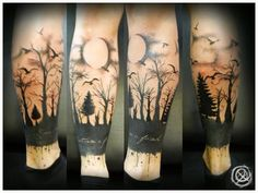 Haunted Forest Wrapped Tattoo