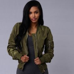 Fashion Nova Jacket Picture Me Rollin' Jacket in Olive green. Never worn before, brand new! Fashion Nova Jackets & Coats