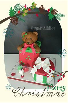 #teddybear #christmas #gifts #cake