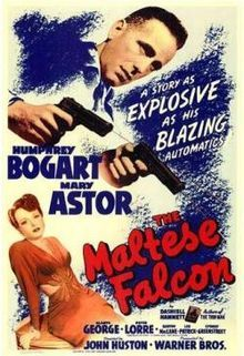 The Maltese Falcon (1941)  private eye Sam Spade in this Oscar-nominated noir classic that finds the sultry Miss Wonderly seeking out protection from a man named Thursby. Spade's partner takes the case -- but he winds up dead, along with Thursby. Spade's subsequent hunt for the killer leads him into a world of deception and double-crossing, as a trio of criminals searches for a priceless statue known as the Maltese Falcon. Humphrey Bogart, Mary Astor, Gladys George...TS classic