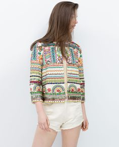 ZARA - SALE - EMBROIDERED JACKET