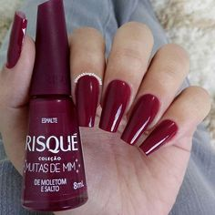 Purple Acrylic Nails, Red Nails, Manicure Y Pedicure, Lettering Tutorial, Spa Day, Nail Arts, Pretty Nails, Nail Colors, Nail Designs