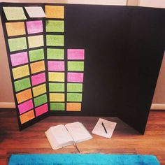 """Build a War Room when you don't have the room.  I used a tri-fold foam board and some index cards.  Grab your bible and a notebook!  Write your prayers down, search the scriptures for guidance, and add to your """"wall."""" #warroom #prayerwarrior #intercession"""