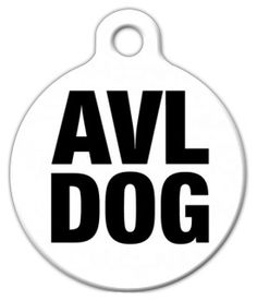 AVL -- Asheville, NC a. Dog Tag Art's very own home town. We love it here, and if you've ever had a taste of AVL, I'm sure you're in love with the area as well. Show off your local pride with this awesome pet ID design! Pet Id Tags, Dog Tags, Walker Hound, Pet Dogs, Pets, Id Design, Custom Tags, Unique Animals, Asheville Nc