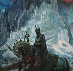 """tolkien-inspired-art: """"by John Howe """" Alan Lee, Jrr Tolkien, John Howe, Dcc Rpg, Witch King Of Angmar, Minas Tirith, Morgoth, Armadura Medieval, Middle Earth"""