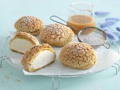 Mariaboller med salt karamellkrem - Bremykt Small Cake, I Love Food, Macarons, Hamburger, Muffin, Salt, Bread, Cookies, Baking