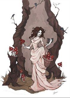 Ведьма из Диких Земель. Рисунок. Автор Iren Horror