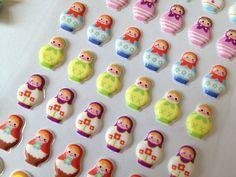 Russian Nesting doll puffy sticker traditional by StickersKingdom