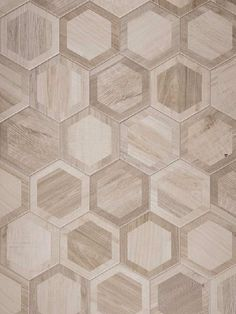 Rubiera Urban Wood 10x11 White Intarsio Hexagon. Also available in 3 additional colors.